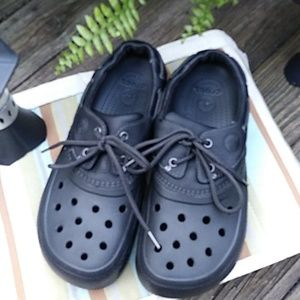 Crocs Islander Sport Boat faux leather Black Tie S